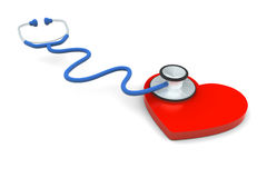 Stetoscopio del cuore Fotografie Stock Libere da Diritti