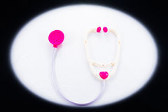 Stetoscopio di plastica del giocattolo immagine stock