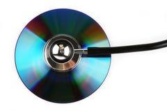 Stetoscopio e CD fotografie stock libere da diritti