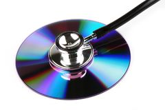 Stetoscopio e CD immagine stock