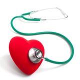 Stetoscopio e cuore Immagini Stock