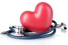 Stetoscopio e cuore medici Fotografie Stock Libere da Diritti