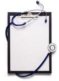 Stetoscopio ed appunti fotografia stock