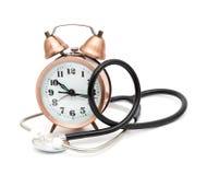 Stetoscopio ed orologio Fotografie Stock Libere da Diritti