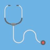 Stetoscopio Icona di sanità Fotografia Stock