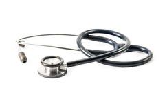 Stetoscopio isolato Fotografia Stock