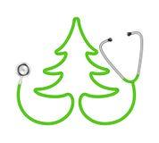 Stetoscopio nella figura dell'albero illustrazione vettoriale