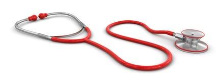 Stetoscopio (percorso di ritaglio incluso) Fotografie Stock Libere da Diritti