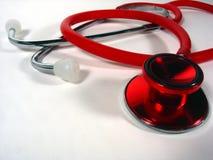 Stetoscopio rosso Fotografia Stock