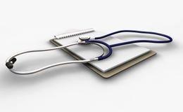 Stetoscopio sui appunti Fotografia Stock