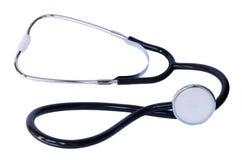 Stetoscopio sul primo piano bianco del fondo Immagine di riserva immagine stock libera da diritti