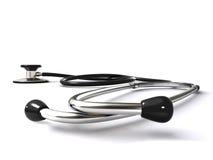 Stetoscopio sulla superficie di bianco Fotografia Stock Libera da Diritti