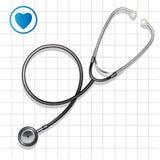 Stetoskop stock illustrationer