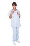 stetoskop doktorska medyczna uśmiechnięta kobieta Zdjęcie Stock