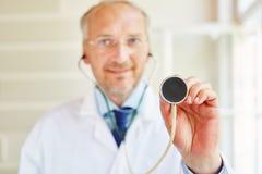 Stetoskop för diagnostik arkivbild
