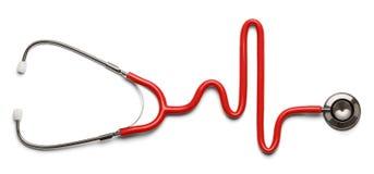 Stetoskopet pulserar Arkivbild
