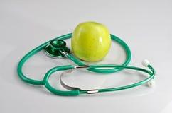 Stetoskop i jabłko Fotografia Stock