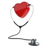 Stetoskop i serce ilustracja wektor