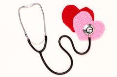 Stetoskop i trykotowi serca. (horyzontalny) Fotografia Stock