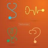 Stetoskop ikony Ilustracja Wektor
