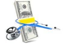 Stetoskop med pengar Royaltyfri Bild