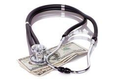 Stetoskop na dolarach Zdjęcie Royalty Free