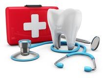 Stetoskop och tand Fotografering för Bildbyråer