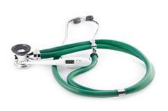 Stetoskop och termometer 36,6 Arkivbild
