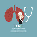 Stetoskop som kontrollerar på lungan Arkivfoton