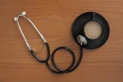 Stetoskop z coffe filiżanką Obraz Royalty Free