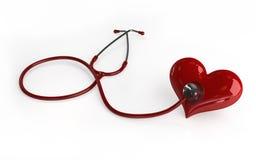 Stetoskop z sercem ilustracja wektor