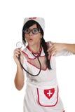 Stetoskopsjuksköterska Fotografering för Bildbyråer