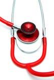 Stetoskopu bielu tło Zdjęcia Stock