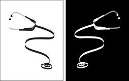 Stetoskopu freehand rysunek Obrazy Stock
