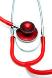Stetoskopvitbakgrund Arkivfoton
