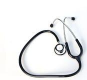 stetoskopwhite Fotografering för Bildbyråer
