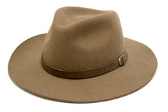 Stetson. Western headgear isolated on a white background stock photo