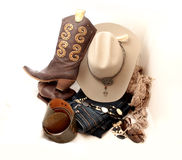 Stetson and accessories Stock Photography