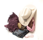 Stetson and accessories Royalty Free Stock Photography