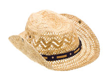 Stetson, straw hat  of cowboy isolated on white Stock Photography