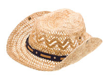 Stetson, straw hat  of cowboy isolated on white Stock Images