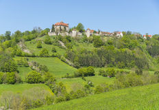 Stetten castle in Hohenlohe. Idyllic spring time scenery in Hohenlohe including the Stetten castle in Southern Germany Royalty Free Stock Image