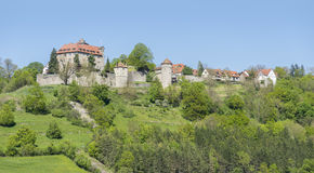 Stetten castle in Hohenlohe. Idyllic spring time scenery in Hohenlohe including the Stetten castle in Southern Germany Stock Photo