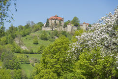 Stetten castle in Hohenlohe. Idyllic spring time scenery in Hohenlohe including the Stetten castle in Southern Germany Royalty Free Stock Photography