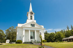 Steuben Baptist Church, Maine. Small wooden church in Maine - Steuben Baptist Church Royalty Free Stock Image