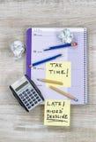 Steuer-Ärger Stockfoto