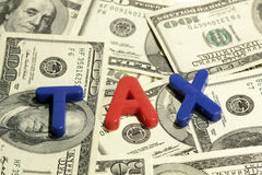 Steuer Stockfoto