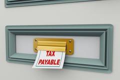 Steuer 3d zahlbar Stockbild