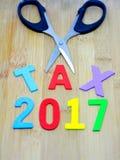 Steuer 2017 Stockbild