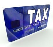 Steuer auf Kredit-Debitkarte zeigt Steuererklärung IRS Stockbild